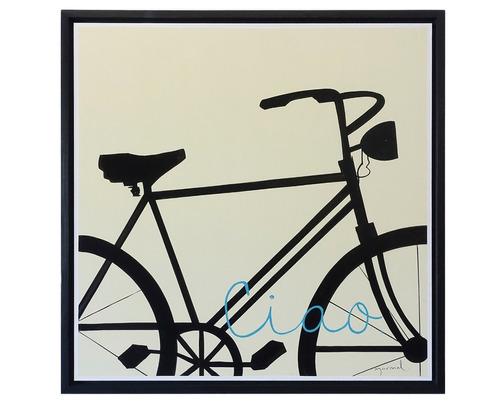 cuadro decorativo 1 pieza - bici ciao këssa muebles