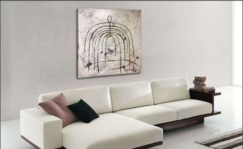 cuadro decorativo 1 pieza - jaula këssa muebles