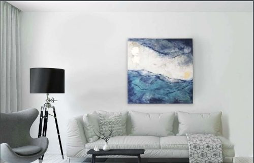cuadro decorativo 1 pieza - olas këssa muebles
