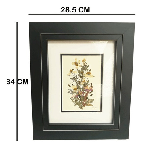 cuadro decorativo a partir de flores silvestres mexicanas
