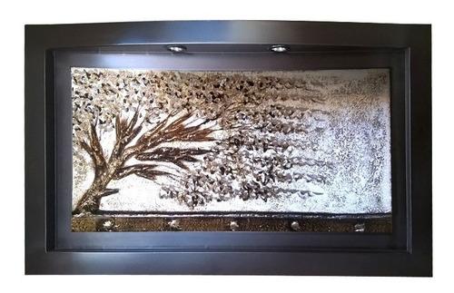 cuadro decorativo abstracto oleo texturizado