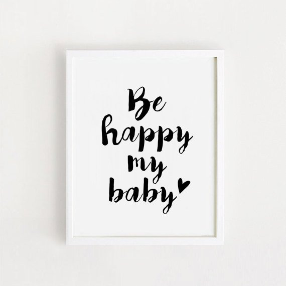 Cuadro Decorativo Be Happy My Baby Ii (13 X 18 Marco Blanc - $ 450 ...