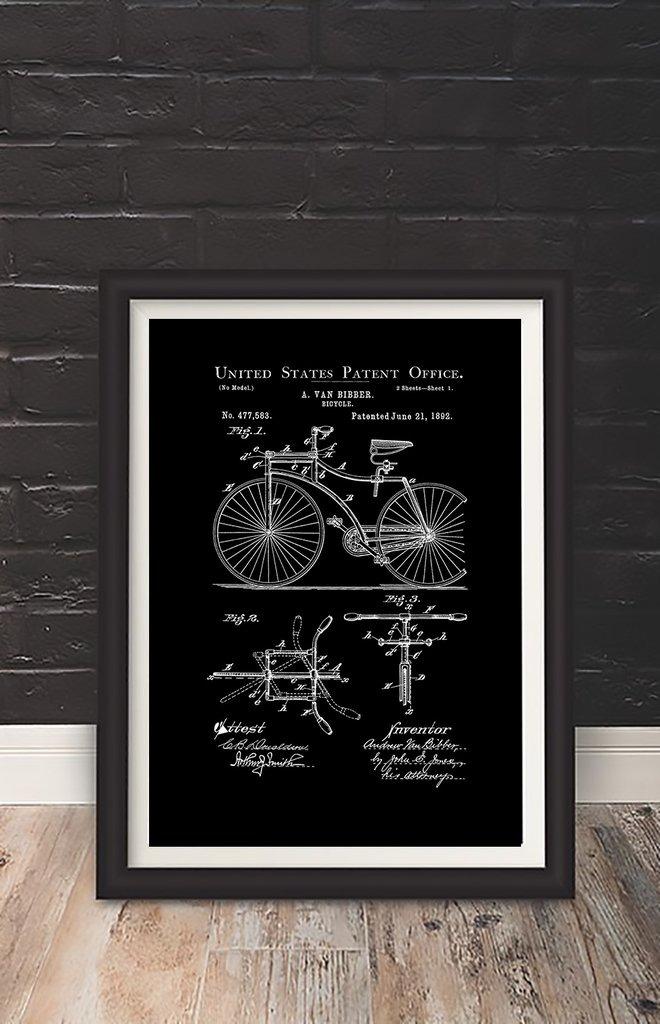 Cuadro Decorativo Bike (13 X 18 Marco Blanco) - $ 450,00 en Mercado ...