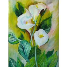 Cuadro Decorativo Calas Flores