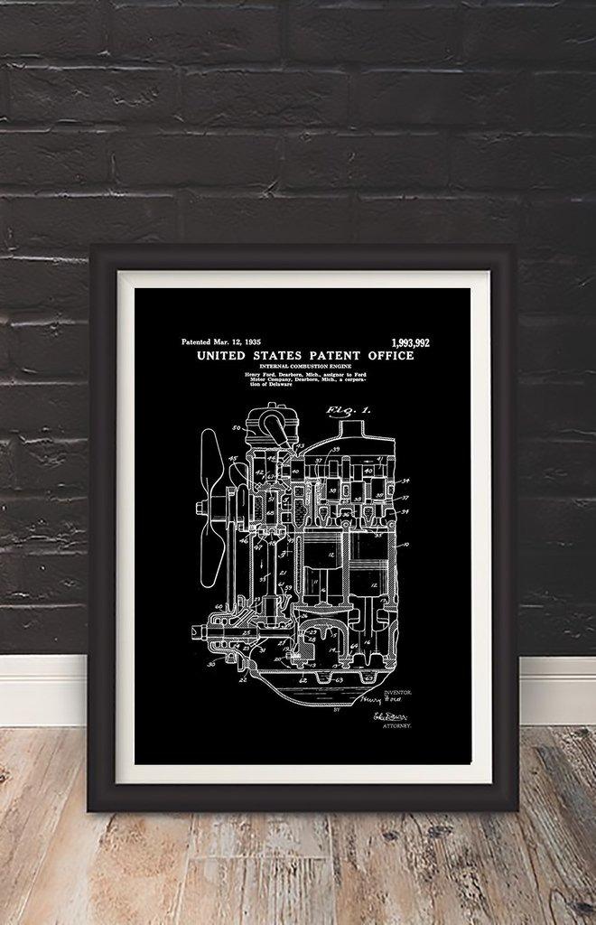 Cuadro Decorativo Combustion Engine (13 X 18 Marco Blanco) - $ 450 ...