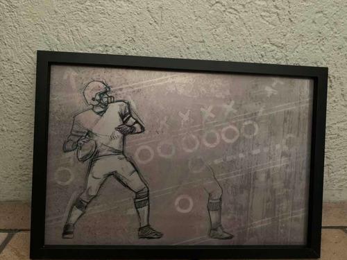 cuadro decorativo con movimiento de  quarterback