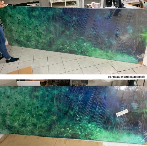 cuadro decorativo con nombre personalizado canvas enrollado