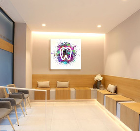 Cuadro Decorativo Consultorio Dental Dentista 60x60cm