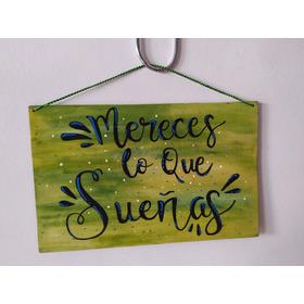 Cuadro Decorativo De Madera Reciclada - Frase (12)