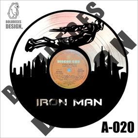 Cuadro Decorativo Disco Vinilo Para Regalar Diseño Ironman 2