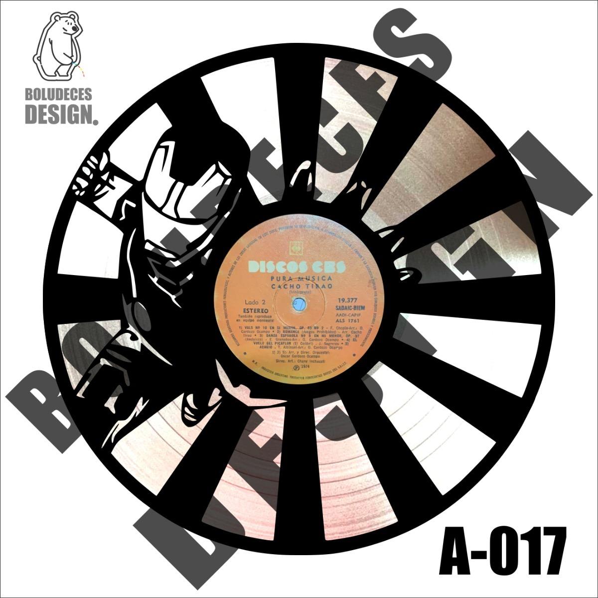 Cuadro Decorativo Disco Vinilo Regalar Diseño Iron Man 4