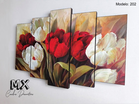Cuadro Decorativo Flores Tulipanes X202