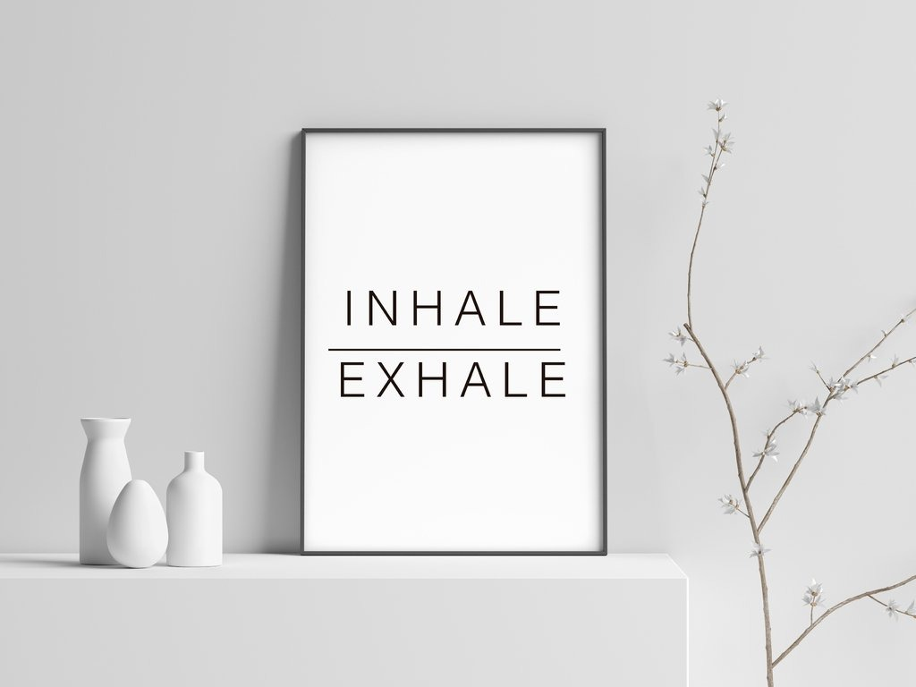 Cuadro Decorativo Inhale- Exhale (20 X 30 Marco Blanco) - $ 650,00 ...