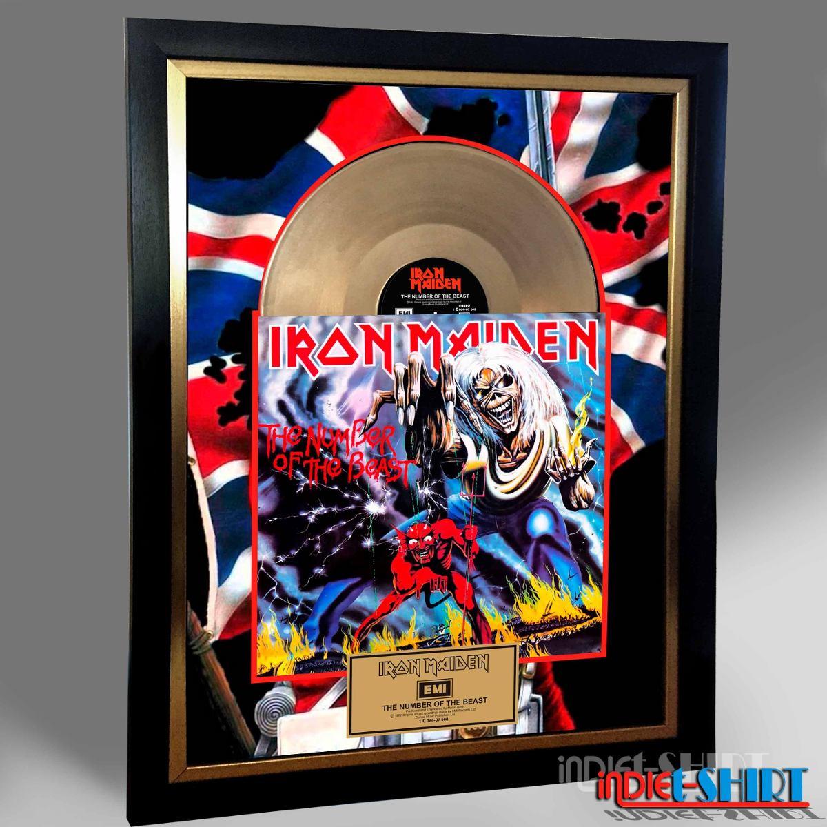 Cuadro Decorativo Iron Maiden Def Leppard Tipo Disco Oro Lp ...