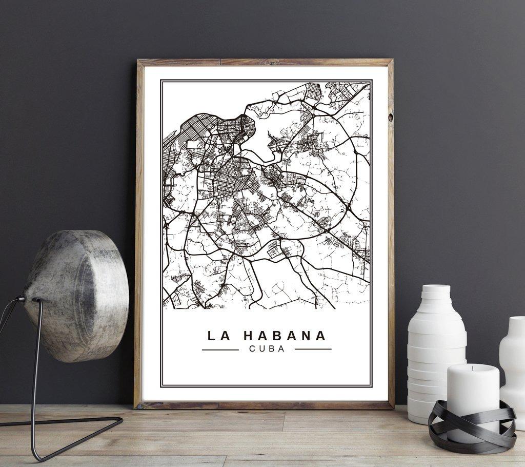 Cuadro Decorativo La Habana (13 X 18 Marco Blanco) - $ 450,00 en ...