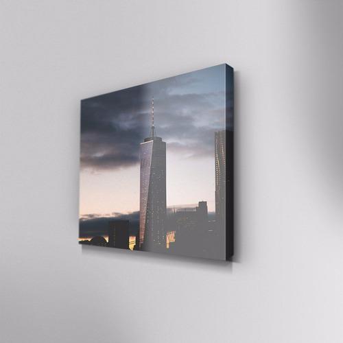 cuadro decorativo la tormenta en canvas 30x30 cm