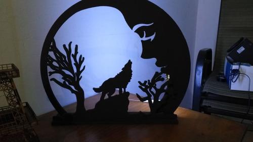 cuadro decorativo mdf 9mm pintado, con luz led.
