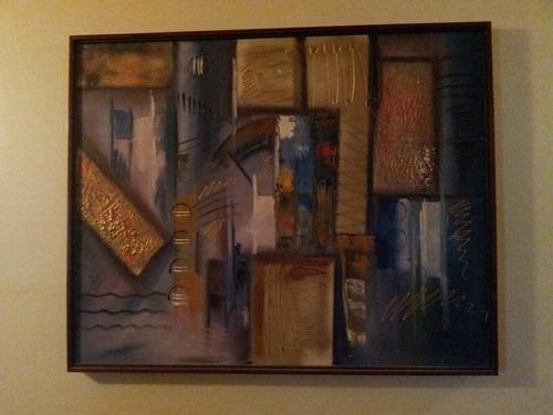 cuadro decorativo moderno 103cm de ancho x 83cm de alto