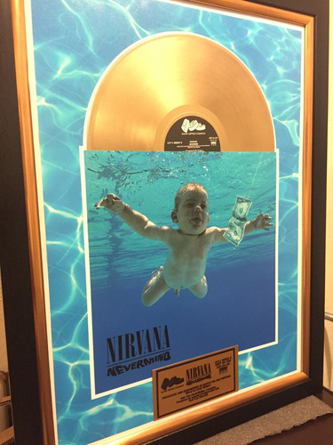 cuadro decorativo nirvana nevermind cobain tipo disco oro lp