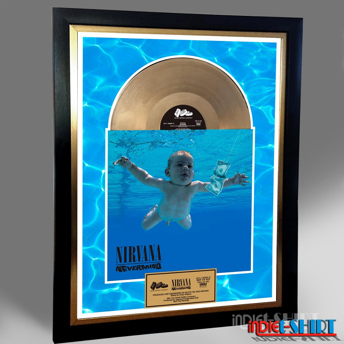 Cuadro Decorativo Nirvana Nevermind Cobain Tipo Disco Oro Lp ...