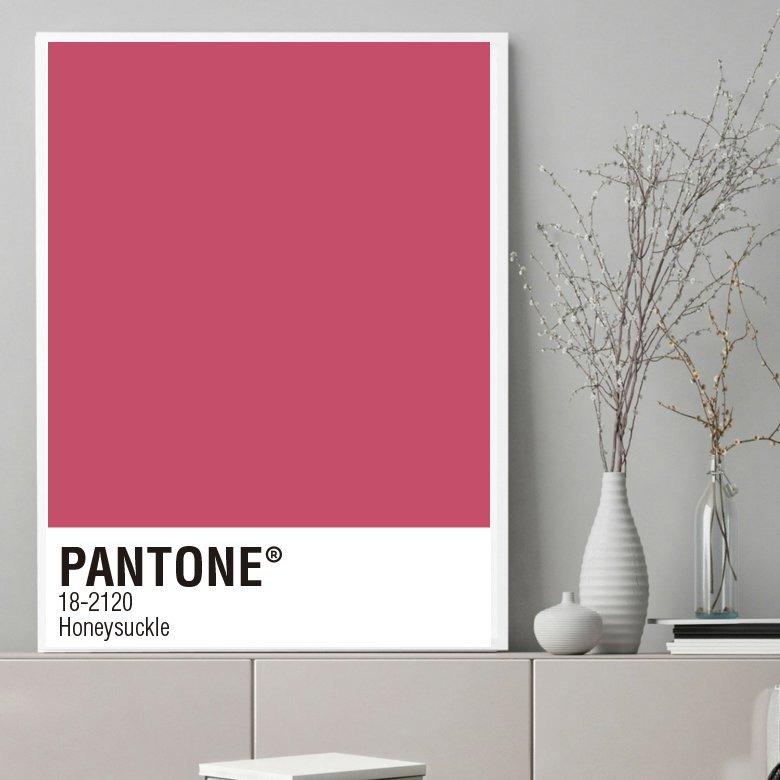 Cuadro Decorativo Pantone Honeysuckle (13 X 18 Marco Madera) - $ 400 ...