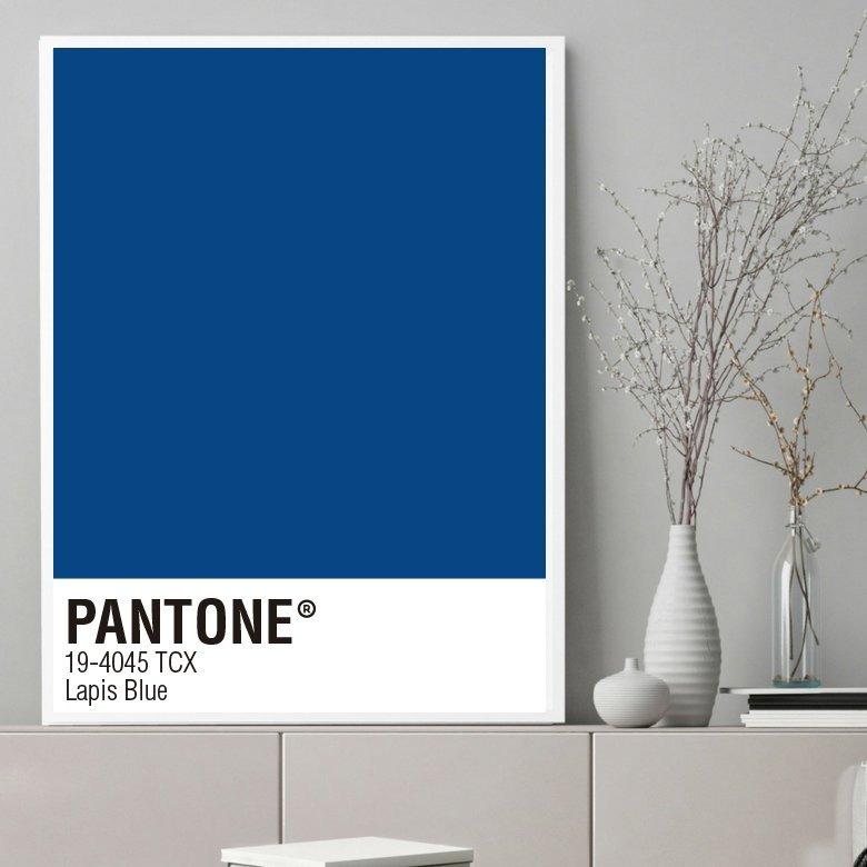Cuadro Decorativo Pantone Lapis Blue (20 X 30 Marco Blanco - $ 650 ...