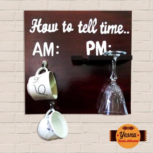 cuadro decorativo para copas y tazas