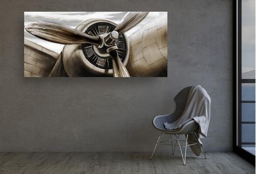 cuadro decorativo para sala avión 3d