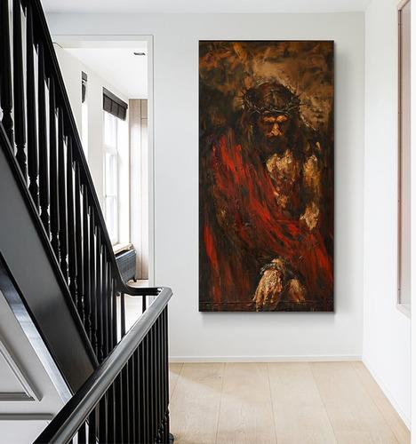 cuadro decorativo para sala la pasion de cristo