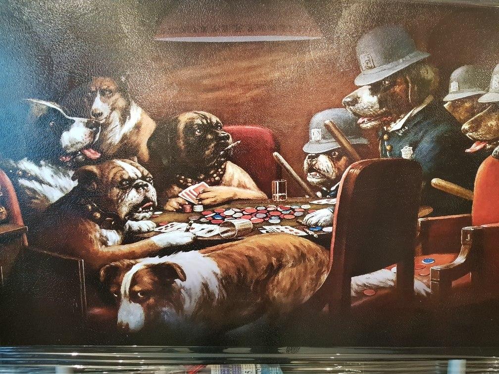 Cuadro Decorativo Perros Jugando Poker Pocar 269 00 En Mercado Libre