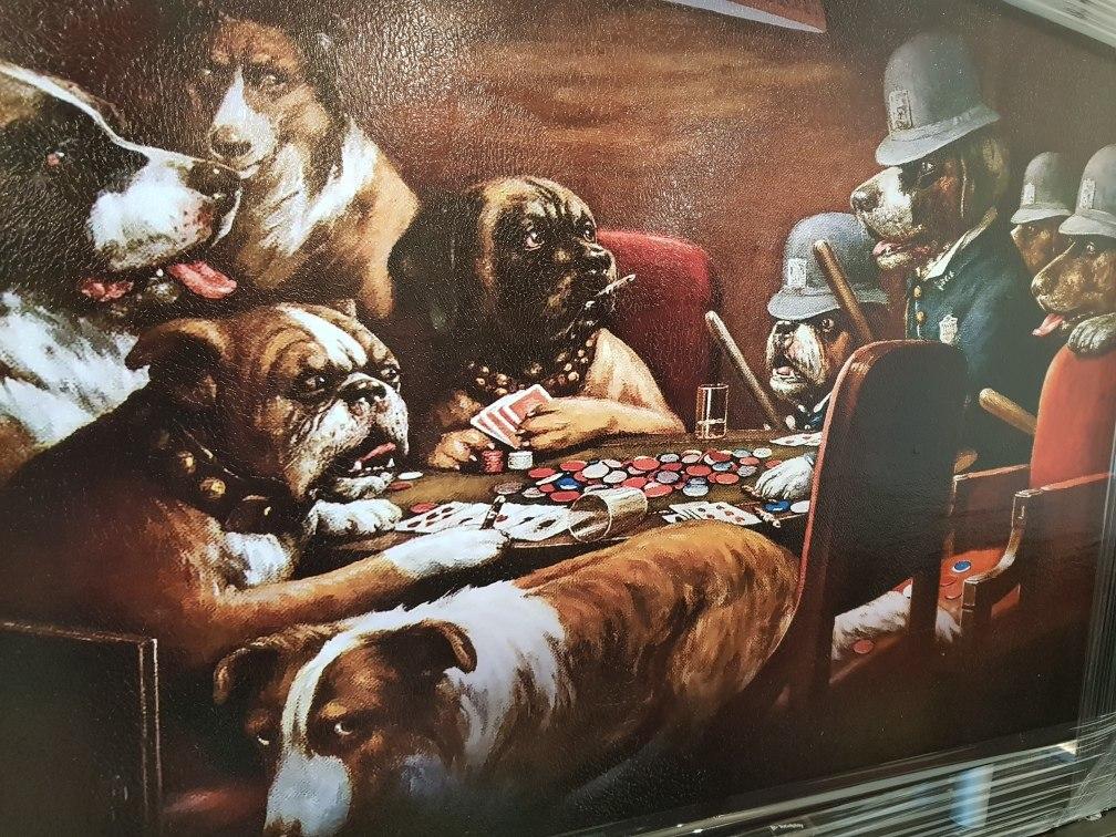 Cuadro Decorativo Perros Jugando Poker Pocar 369 00 En Mercado Libre