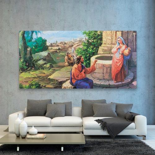cuadro decorativo pintura impresa canvas jesus maria juntos