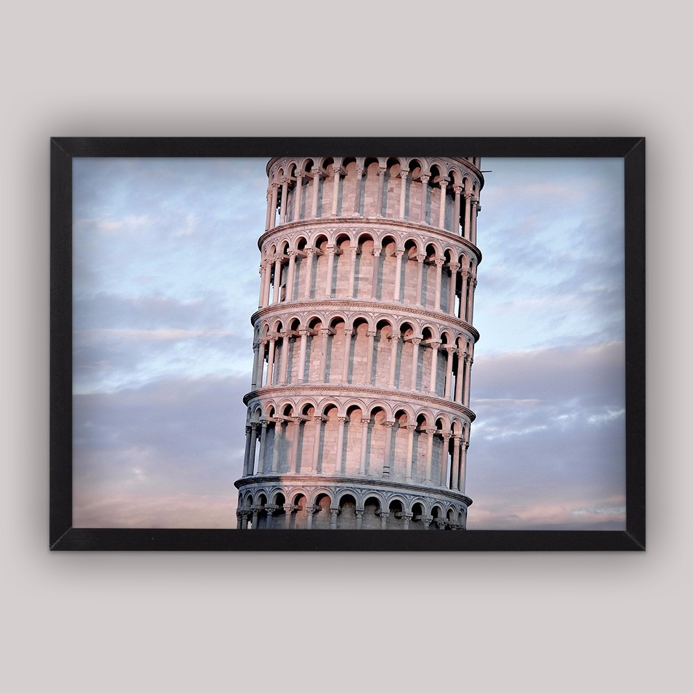 Cuadro Decorativo Torre De Pisa Con Marco 20*30 Cm - $ 199.00 en ...