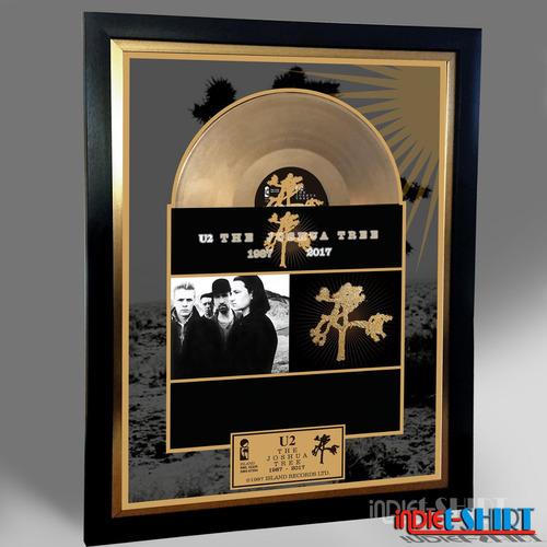 cuadro decorativo u2 joshua tree coldplay tipo disco oro lp
