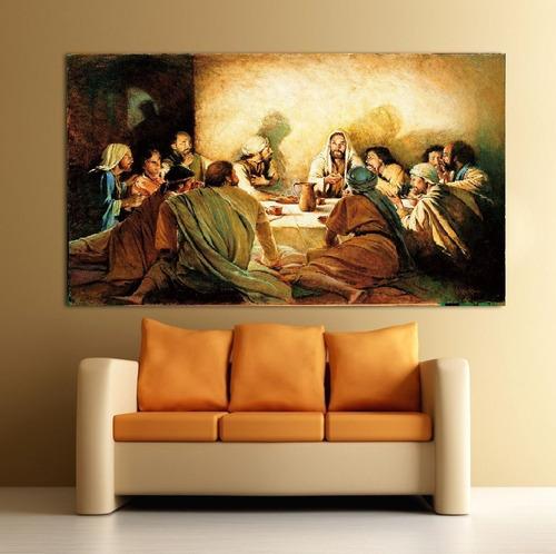 cuadro decorativo ultima cena lienzo canvas sobre bastidor