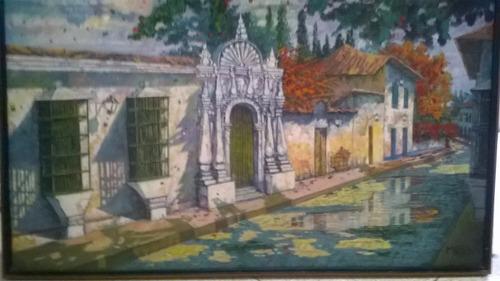 cuadro del artista muss obra la casa de las ventanas de h.