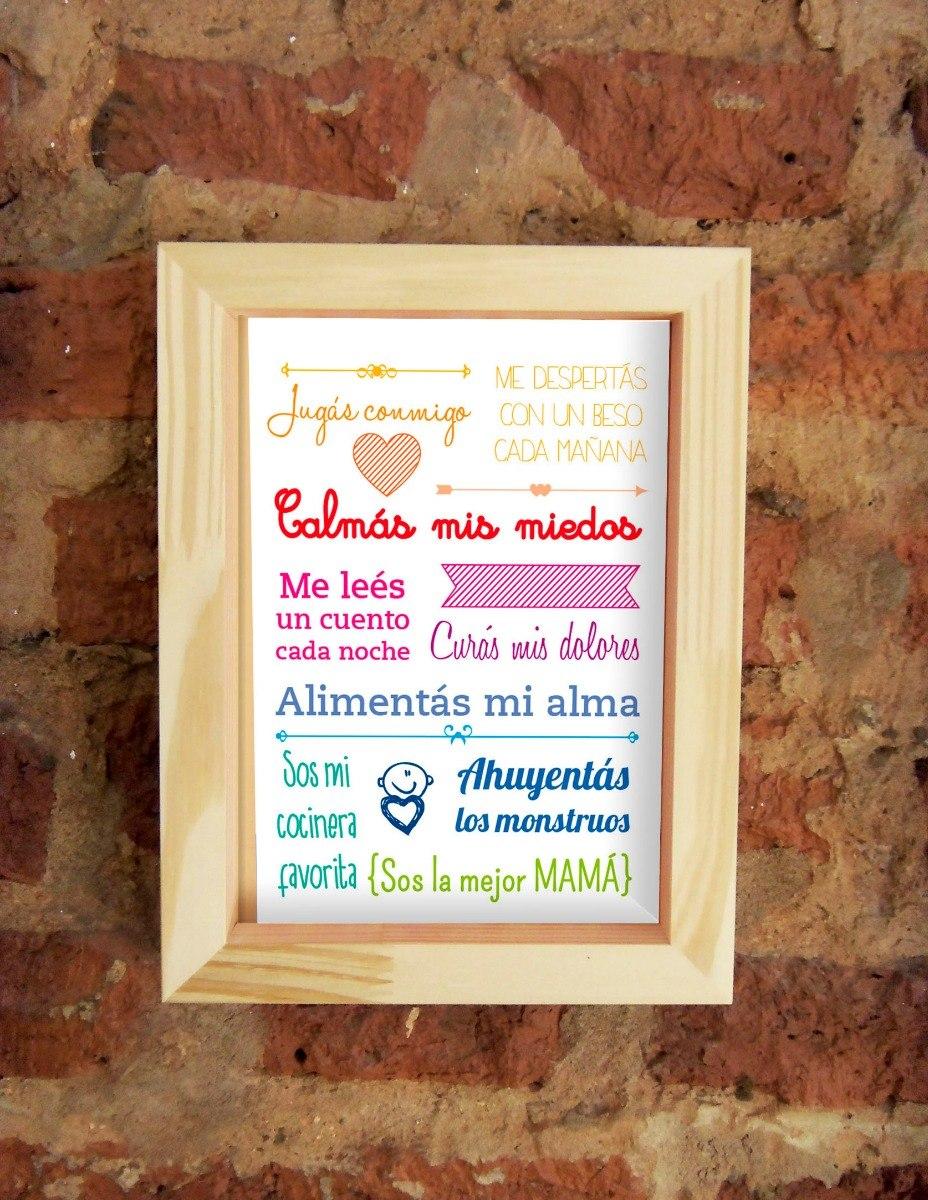 Cuadro Día De La Madre. Marco Box - $ 200,00 en Mercado Libre