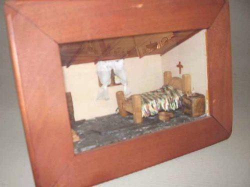 cuadro dormitorio miniatura en profundidad