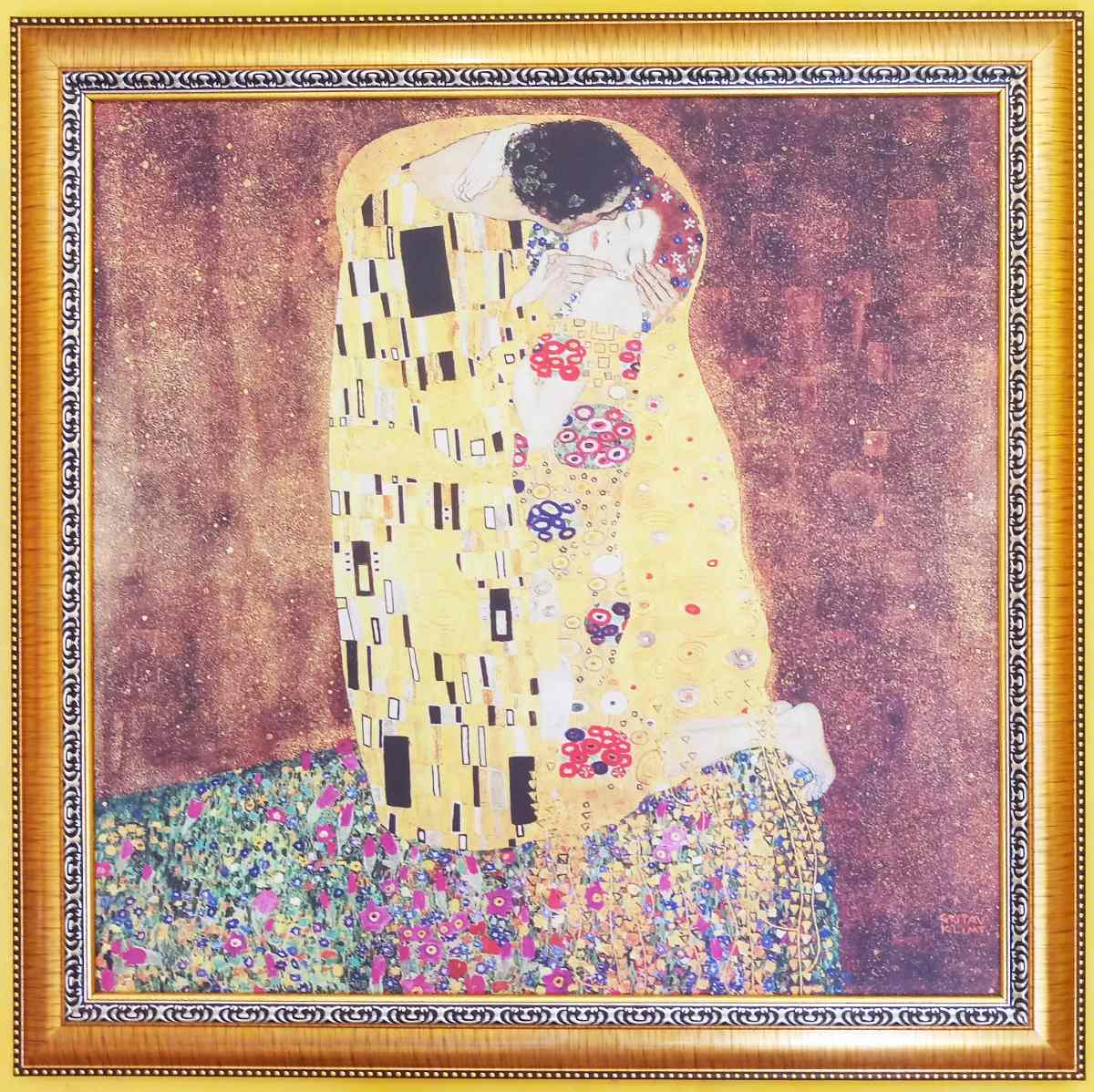 Cuadro, El Beso, Gustav Klimt, 84x84cm - $ 1,000.00 en Mercado Libre