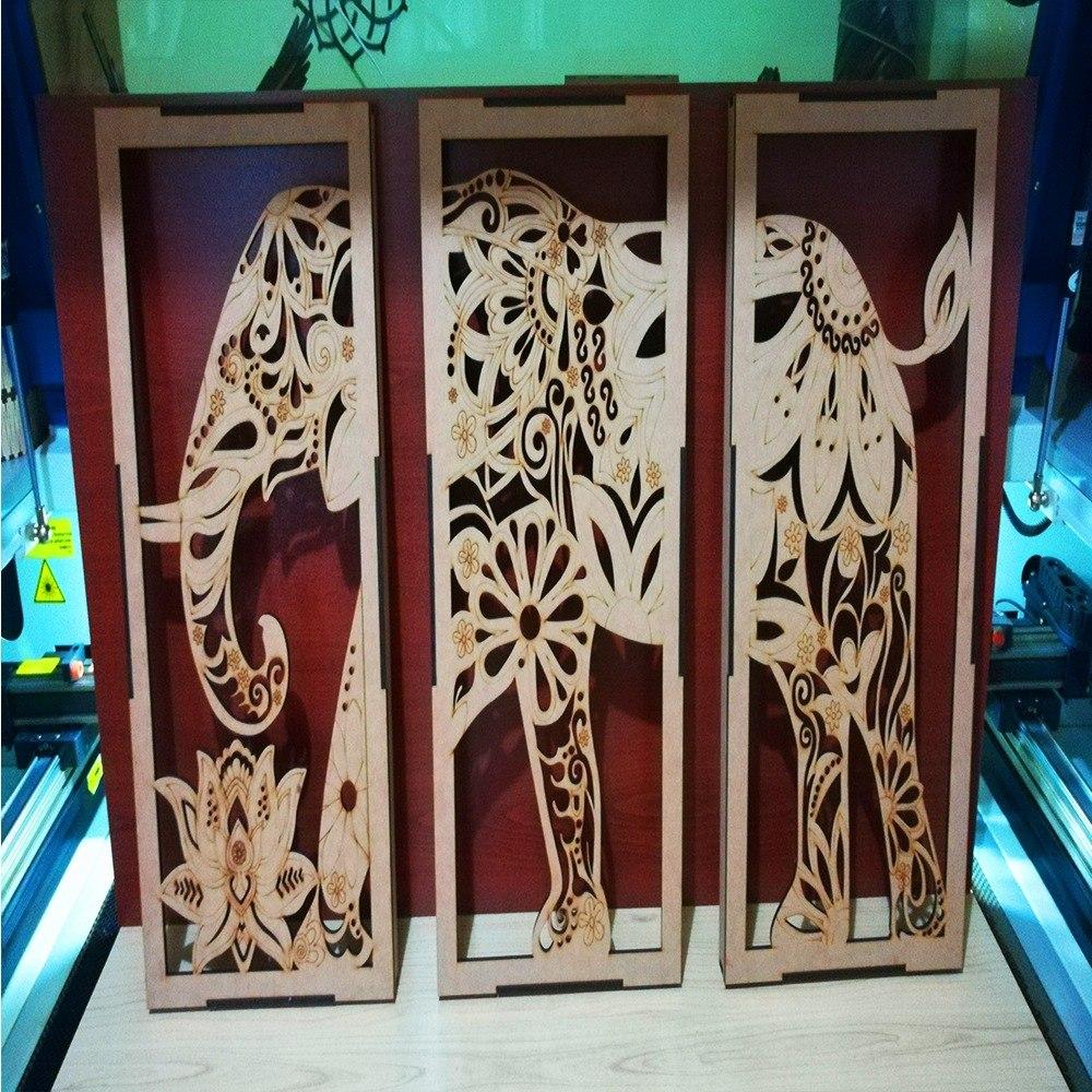 Cuadro Elefante Para Pintar En Madera Mdf 5,5mm Decoración ...
