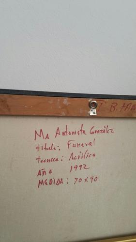 cuadro en acrilico titulado  funeral