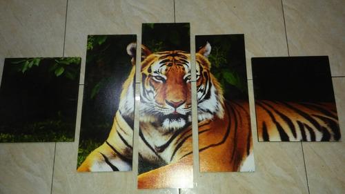 cuadro en bastidor diseño tigre( 130x65)