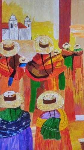cuadro en pintura acrílica sobre lienzo