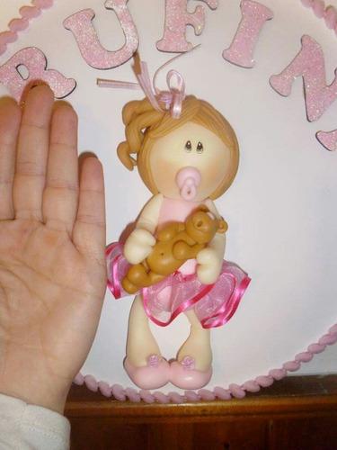 cuadro en porcelana fria baby shower, p puerta habitación