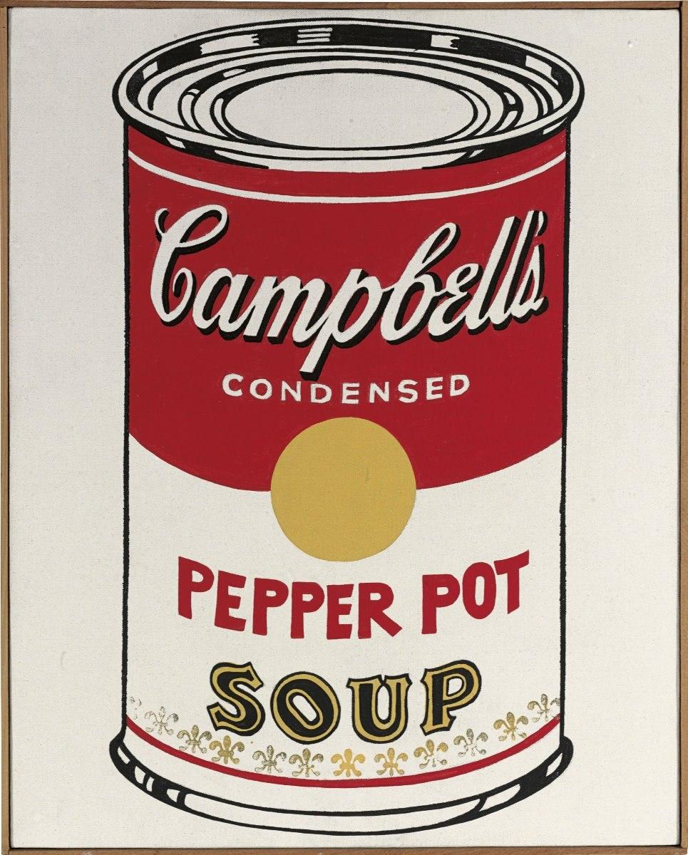 Cuadro En Tela, Lata De Sopa Campbell Pepper- Andy Warhol ...