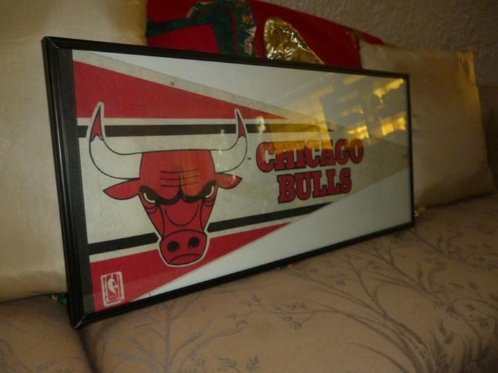 Cuadro enmarcado de bander n de coleccion de chicago bulls for Enmarcado de cuadros precios