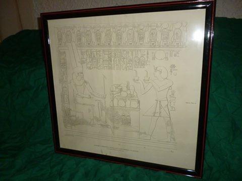 cuadro enmarcadode coleccion  de egipcio