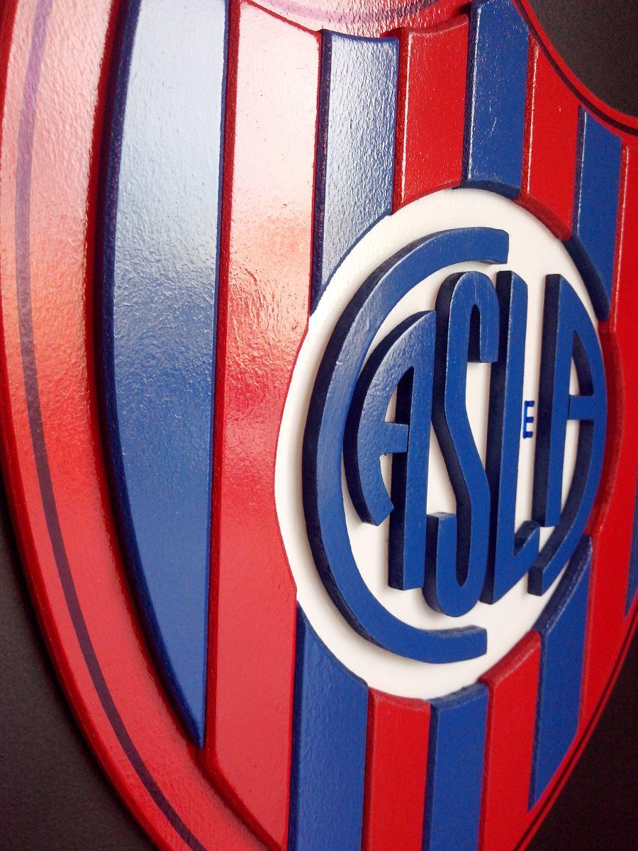 cuadro escudo de futbol san lorenzo madera c relieve