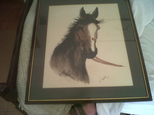 cuadro firmado caballo
