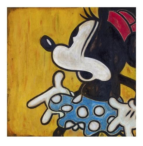 cuadro focu deco lienzo canvas 20x20 disney retro - minnie